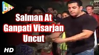 Salman Khan At Ganpati Visarjan 2015 | Sanjay Dutt | Event Uncut