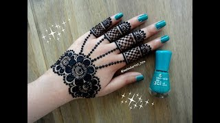 Latest Famous beautiful easy gulf jewellery style henna mehndi designs for hands for diwali,eid