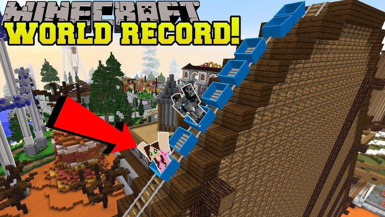 Minecraft: FASTEST ROLLER COASTER EVER!!! - HERO FAIR [1]