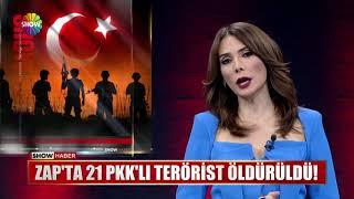 Zap'ta 21 PKK'lı terörist öldürüldü!
