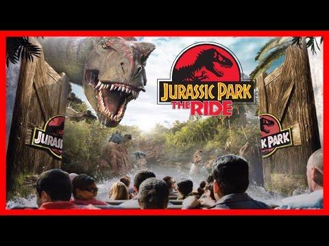 JURASSIC PARK: River Adventure Ride Front Seat POV Universal Studios   Liam and Taylor's Corner