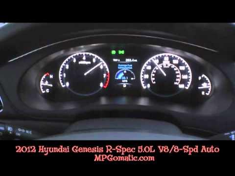 2012 Hyundai Genesis R Spec 0 60 Mph Youtube