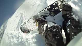 Head On Snowboard Crash with Skier Serious Injury snapped acl,pcl,mcl,lcl helicopter rescue