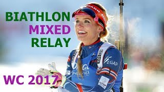 BIATHLON MIXED RELAY 26.11.2017 World Cup 1 Oestersund (Sweden)