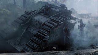 WW1 - British vs German Army Tank Battle - Battle of Cambrai - Over the Top - Battlefield 1