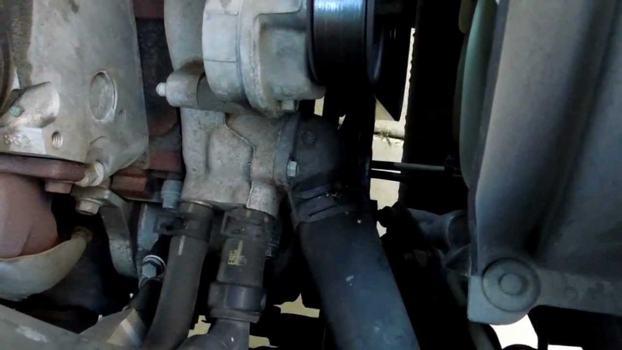 engine thermostat location on chevy 2500