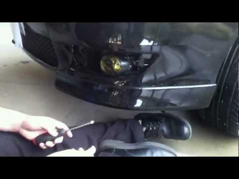Замена противотуманной фары и лампы Mitsubishi Lancer X 10, видео