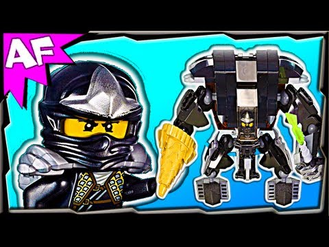 COLE's EARTH MECH - Custom Lego Ninjago Rebooted 70723 70500 Stop Motion Review