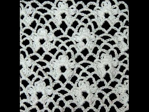 Crochet : Punto Enrejado con Flor.  Parte 1 de 2 Music Videos