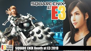 Checking out the SQUARE ENIX booth at E3