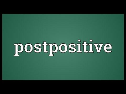 Header of postpositive