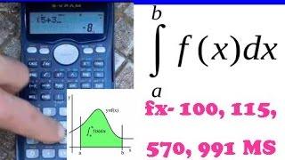 INTEGRALES EN CASIO FX-100MS, FX-115MS, FX-579MS, FX-991MS