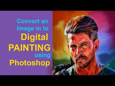 Hrithik Roshan painting from War movie still | Smudge painting Photoshop tutorial | Digital art