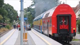 Stacja Jastarnia - mijanie się pociągów piętrowych