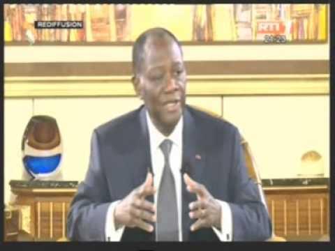 Entretien avec S E M Alassane OUATTARA Président de la République de Cote d'Ivoire.