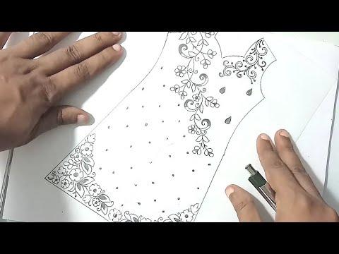 sketch of kameez designs, fashion designer kurti sketch.