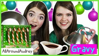 CANDY CANE vs REAL FOOD Switch Up Challenge! / AllAroundAudrey