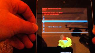 Android Tablet Reset And Wipe - Example Nexus 7