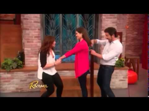 First Haircut! 30yr old cutey with floorlength hair on Rachael Ray show