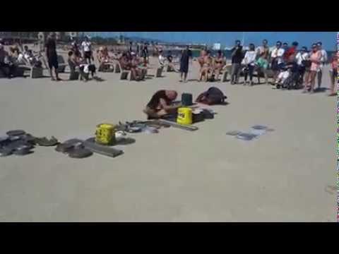 Batterista da spiaggia