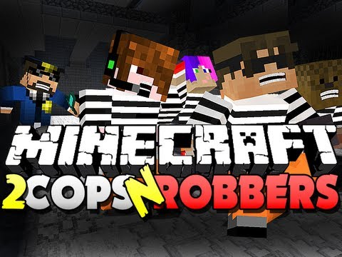 Minecraft Cops and Robbers 2 -  PALM TREE EATING!! (SkyDoesMinecraft, JeromeASF, and Friends)