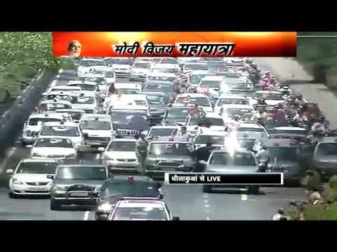 Narendra Modi's victory march in Delhi