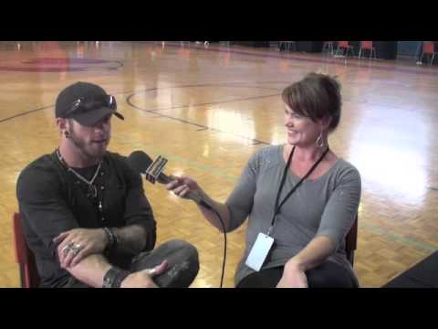 Brantley Gilbert on his Dog visiting the Ride