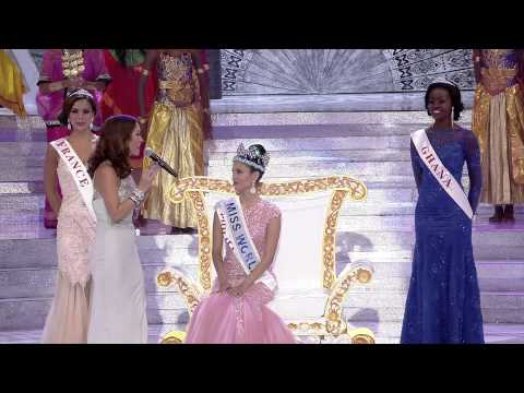 Miss World 2013 - Official Crowning Of Megan Young! video