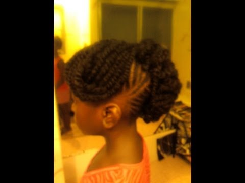 Braided style tutorial: french roll w/ swoop bang