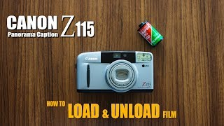 LOAD and UNLOAD FILM | CANON Z115