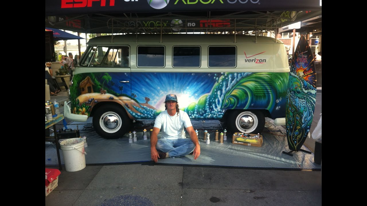 Live Painting Of A Vintage 1965 Vw Bus At Vans Us Open