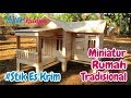 Crafts Ice Cream Sticks | How to Make a Miniature Traditional House West Java