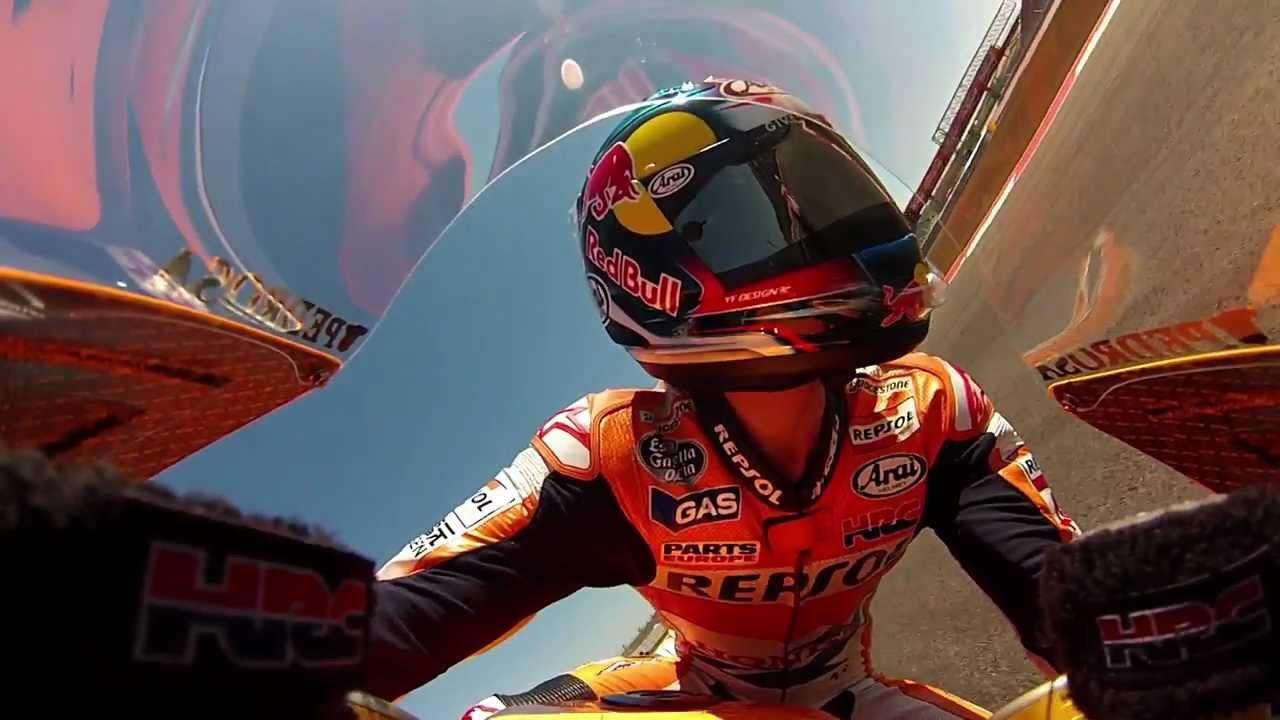 Dani Pedrosa GoPro action - MotoGP Pre-Season Testing Austin - YouTube
