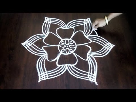 Beginners Freehand Muggulu || Rangoli Wihout Dots || Easy Freehand Kolam || Fashion World
