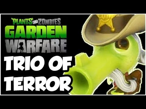 Plants vs. Zombies Garden Warfare - TRIO OF TERROR!! NEW PEA!! Gameplay Walkthrough (1080p HD)
