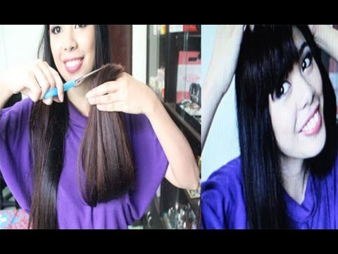 How I Trim The Ends of My Hair Plus See Me with Faux Bangs