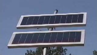 Deer fence driveway gate solar panel video