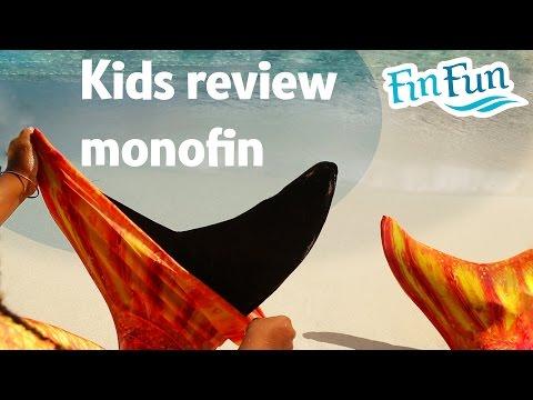 Kids Review a Fin Fun Monofin   Fin Fun Mermaid Tails