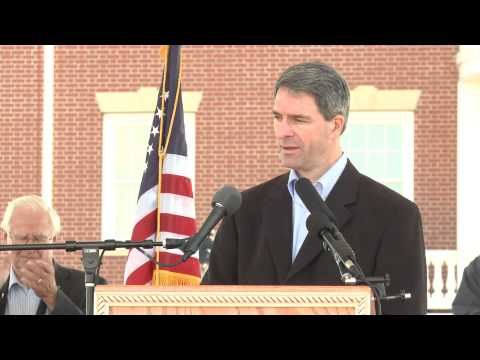Ken Cuccinelli briefly shifts focus to gun control