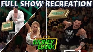 WWE 2K17 RECREATION: MONEY IN THE BANK 2017 FULL SHOW HIGHLIGHTS