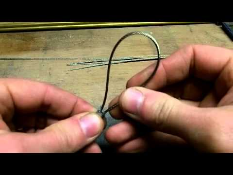 how to make a locking cable-snare for trapping