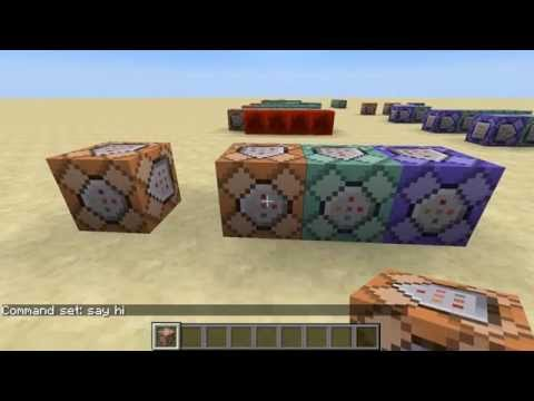 Learning Minecraft Command Block Programming, Part 2 - Impulse, Chain, Repeat