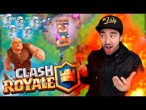 CLASH ROYALE - GRANDE DESAFIO & DECK ESPECIAL DE GIGANTE + ESQUELETOS !