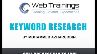 Digital Marketing Training - Keyword Research Basics (Part 4)