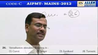 AIPMT 2012 Mains Biology [Code-C] By : K.C. Sharma Sir