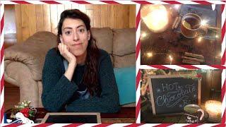 HOT CHOCOLATE BAR DIY - GIFT WRAPPING AND CHRISTMAS DRINK   Vlogmas