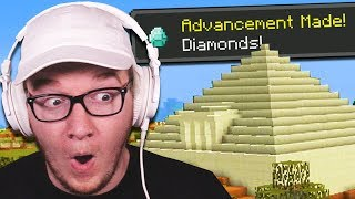 I Found My First DIAMONDS In A MINECRAFT PYRAMID!