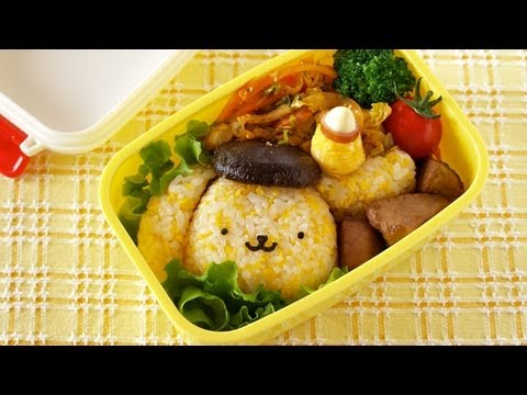 how to make pom pom purin bento lunch box recipe. Black Bedroom Furniture Sets. Home Design Ideas