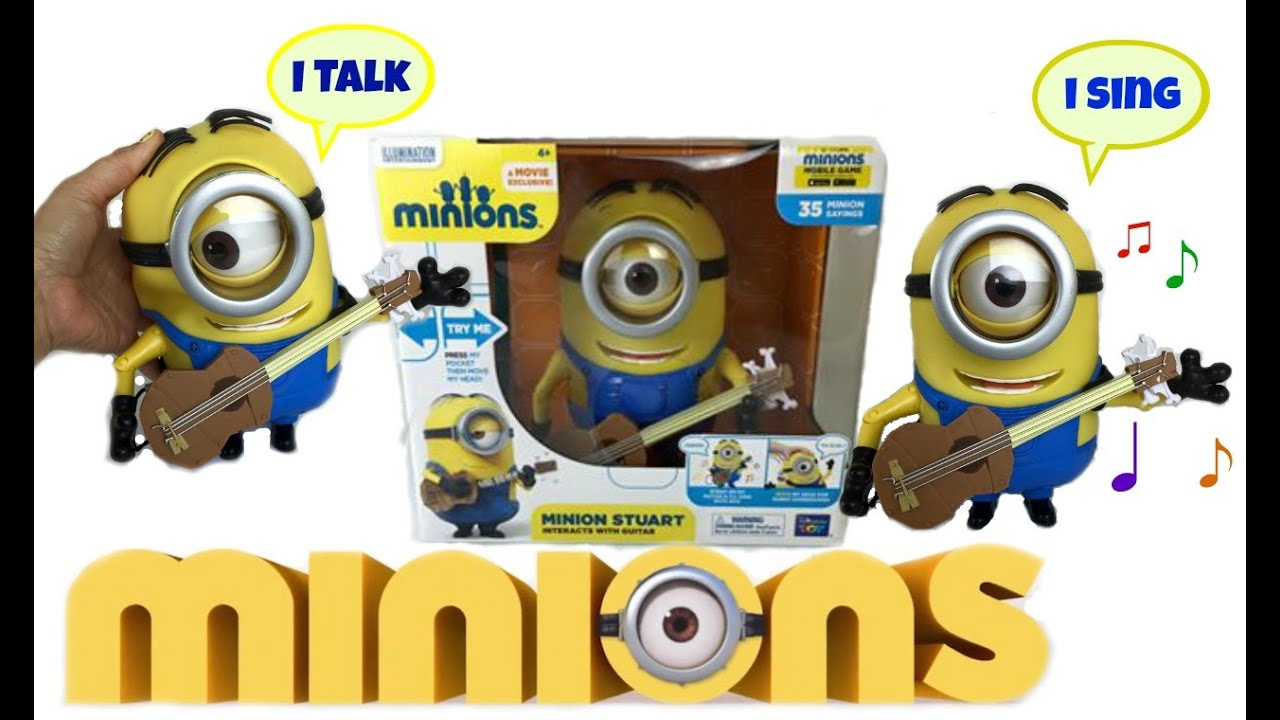 Minion Stuart Figure Minions Movie Stuart Interacts