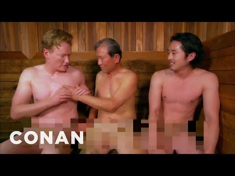 Steven Yeun & Conan Visit A Korean Spa  - CONAN on TBS